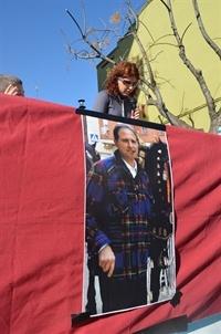 La imatge de Julián Martí va presidir l'acte