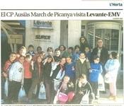 El CP Ausiàs March visita el diari Levante-EMV