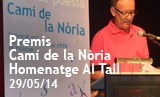 Acte lliurament premis Camí de la Nòria. Homenatge a Al Tall