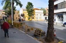 Obres de reforma del creuament dels carrers Senyera i P. Sang