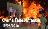 Falles Picanya 2016. Cremà Falles Infantils