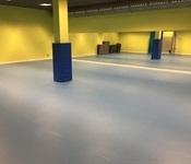 Renovació del sòl de les sales del pavelló