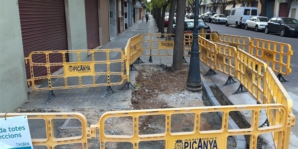 Millora de les voreres del creuament dels carrers S. Joan Baptista i Verge del Carme