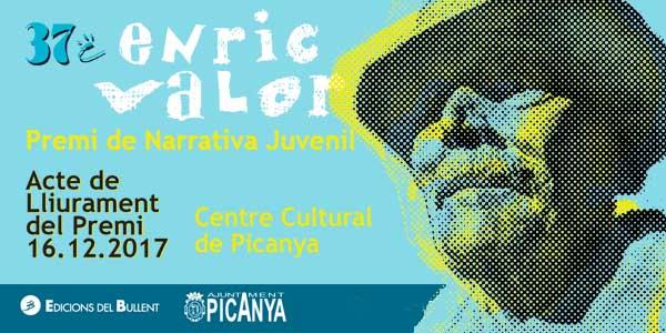 Acte de lliurament del 37é Premi de Narrativa Juvenil Enric Valor