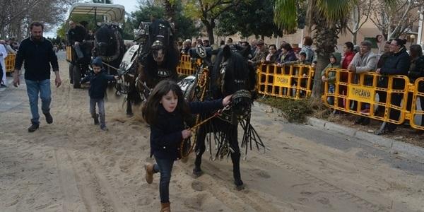 Festa de Sant Antoni. 1 de 2. Inici, cavalls i carruatges