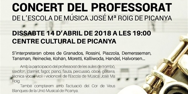 Concert del professorat de la Unió Musical de Picanya