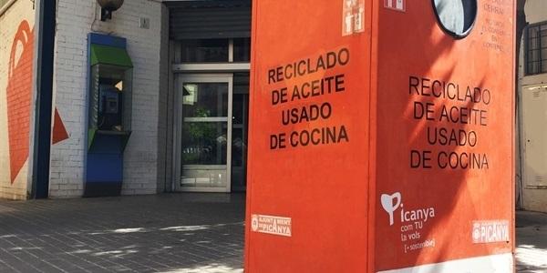 El reciclatge d'oli domèstic als pobles de la comarca (entre ells Picanya) creix un 54%