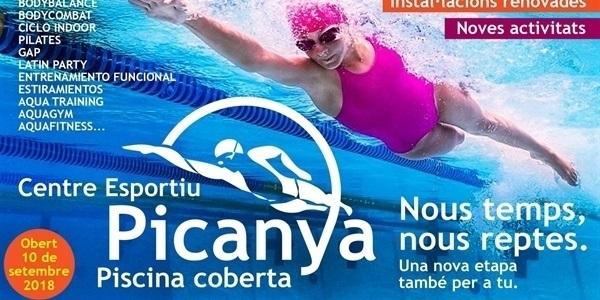 Obri el nou Centre Esportiu Picanya, Piscina Coberta