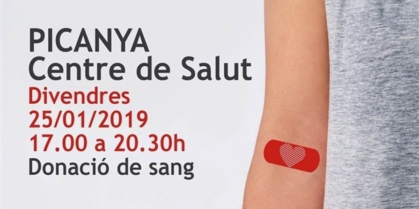 Donació de Sang al Centre de Salut