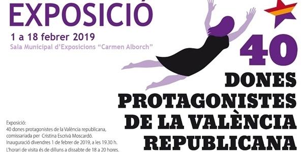 Exposició: 40 Dones protagonistes de la València republicana