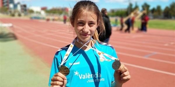 Dues medalles per a la picanyera Emma Jiménez