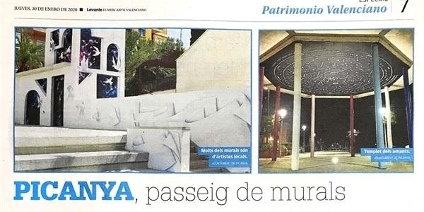 """Hui el diari Levante-EMV publica """"Picanya, passeig de murals"""""""