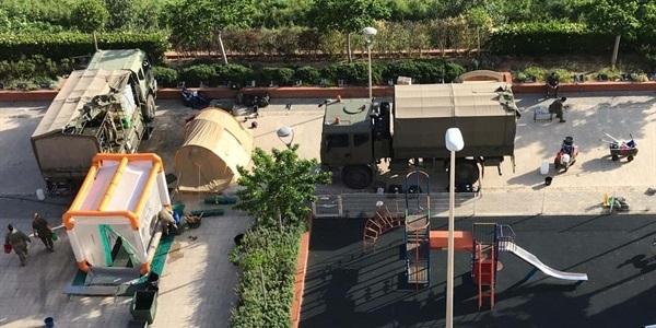 L'Exèrcit està realitzant treballs de desinfecció a les residències de majors de Picanya