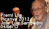 Acte de lliurament del Premi Llig Picanya a José Luís Sampedro