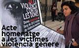 Acte homenatge a les víctimes de violència de gènere