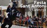 Festa de Sant Antoni 2013. Benedicció dels animals.